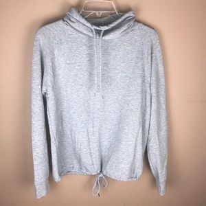 gilligan & o'malley cowl neck grey sweatshirt